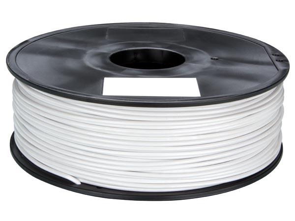 Filamento ABS 1,75 mm - cor branco - 1 Kg