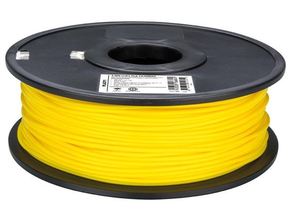 Filamento PLA - 3 mm - Color Amarillo - 1 Kg - PLA3Y1
