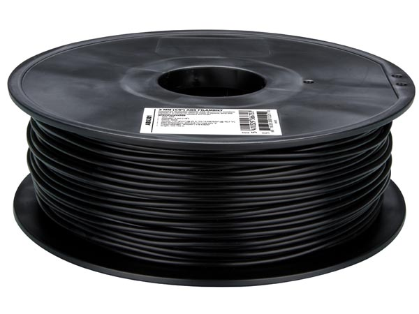 Filamento ABS - 3 mm - Color Negro - 1 Kg - ABS3B1