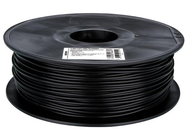 ABS Filament - 3 mm - Colour Black - 1 Kg - ABS3B1