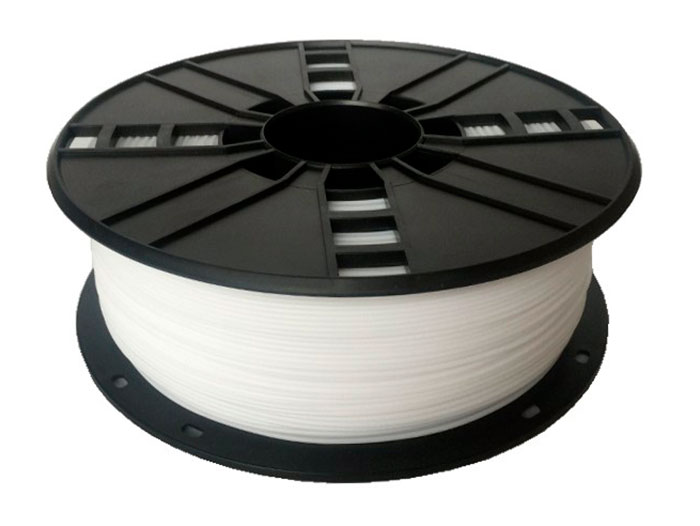 HIPS Filament - 1.75 mm - Colour White - 1 Kg - 3DP-HIPS1.75-01-W