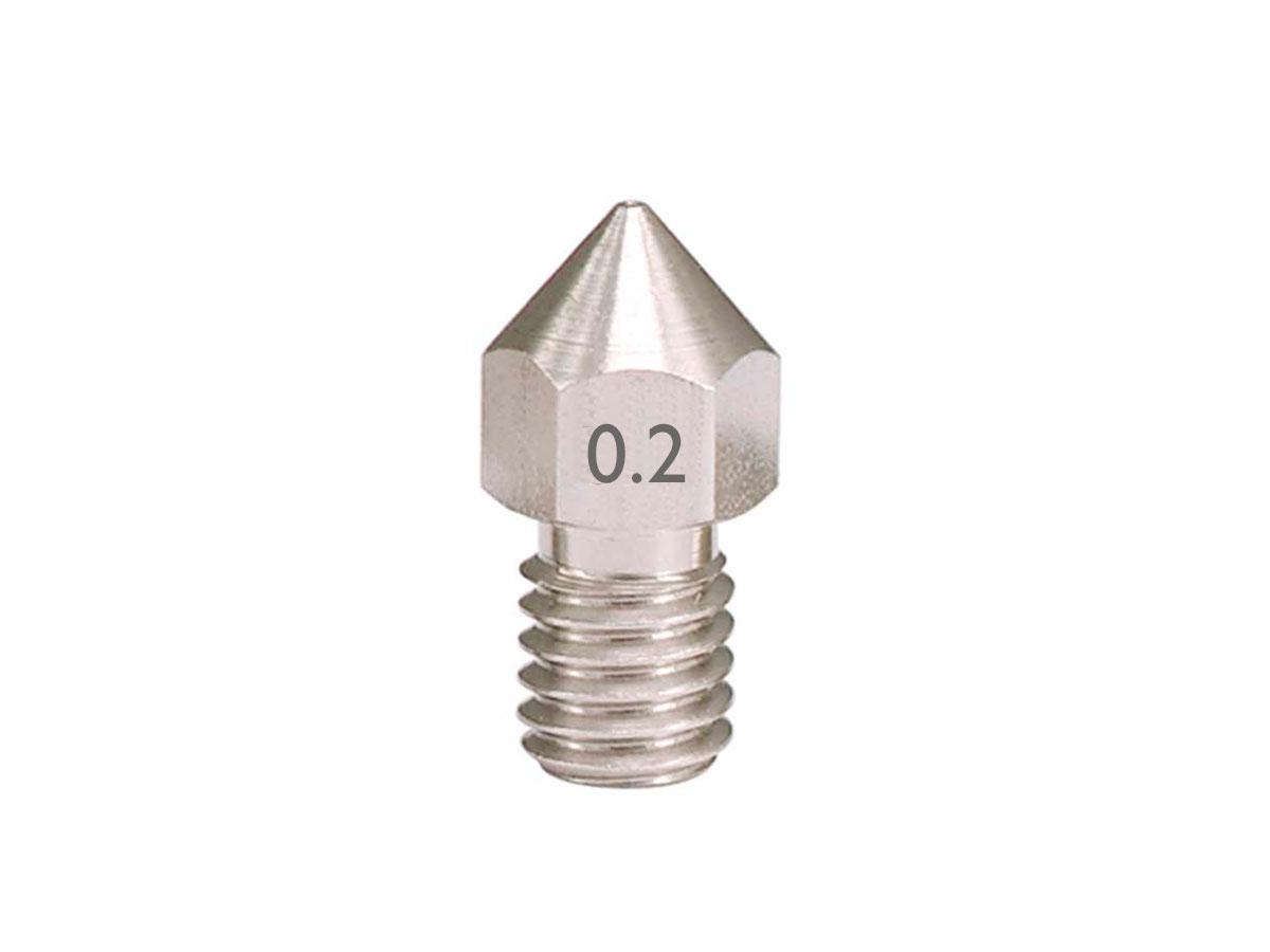 Boquilla Extrusor Impresora 3D Filamento Ø 1,75 mm - Ø 0,2 mm