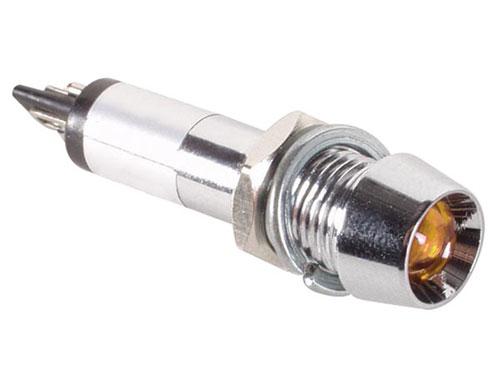 PILOTO LED 8MM 220V AMBAR