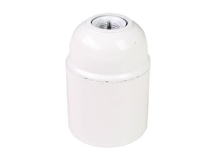 Suporte de lâmpada E27 branco - com casquilho - SIMON