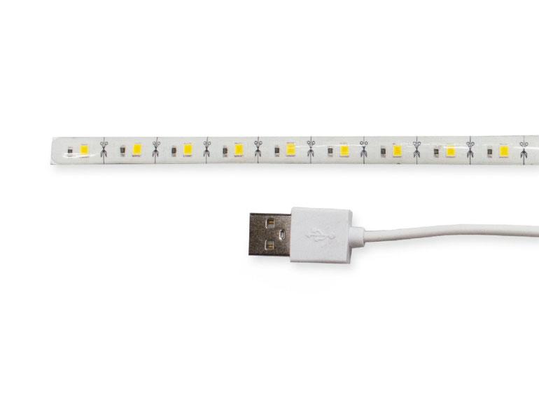 Gembird Strip Led - USB LED Strip - 30 cm - Warm White 3200 K - LED-SU-WW30-01