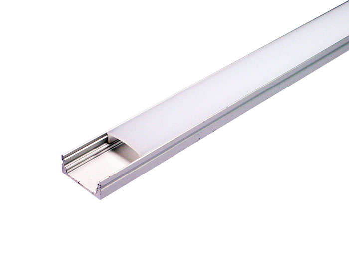 Aluminum Profile for LED Strip - Straight - Semi-Matte Cover - 2 m - BPS170701