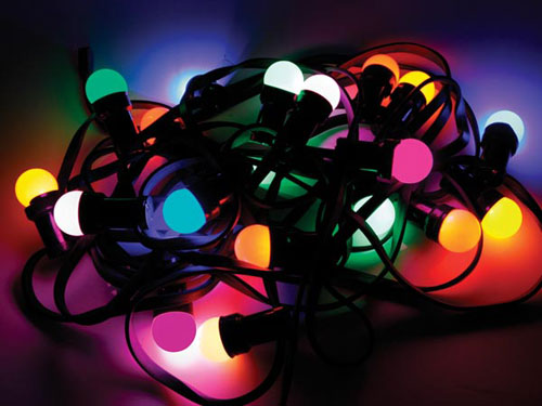 Festive String Lights for Outdoor Use - 20 Coloured Bulbs - XMPL10RGB