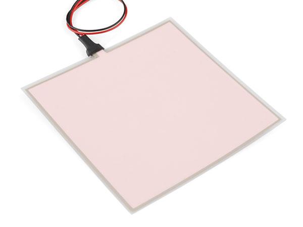 Painel eletroluminescente 10 x 10 cm - Branco