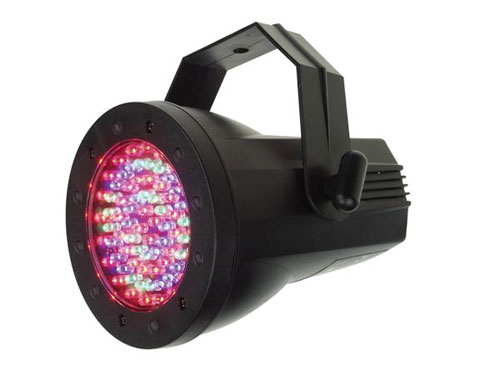 FOCO PAR 36 - 76 x 5mm LEDs - ABS - DMX