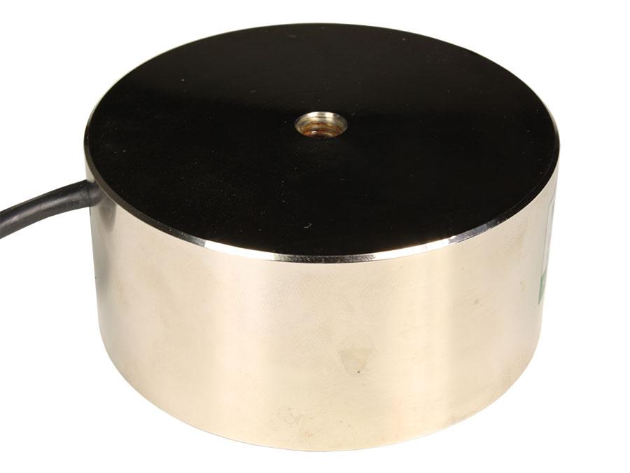 Eletroíman 24 VDC - Ventosa Eletromagnética  com Retenção 100 Kg - Ø80 × 38 mm