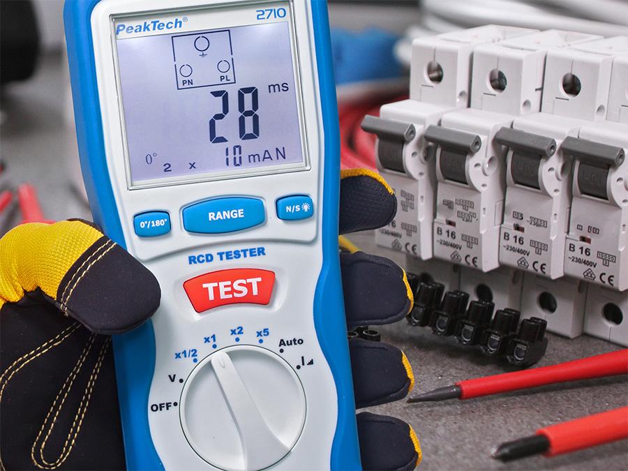 PeakTech P 2710 - Comprobador de Diferenciales RCD-Tester - 2710