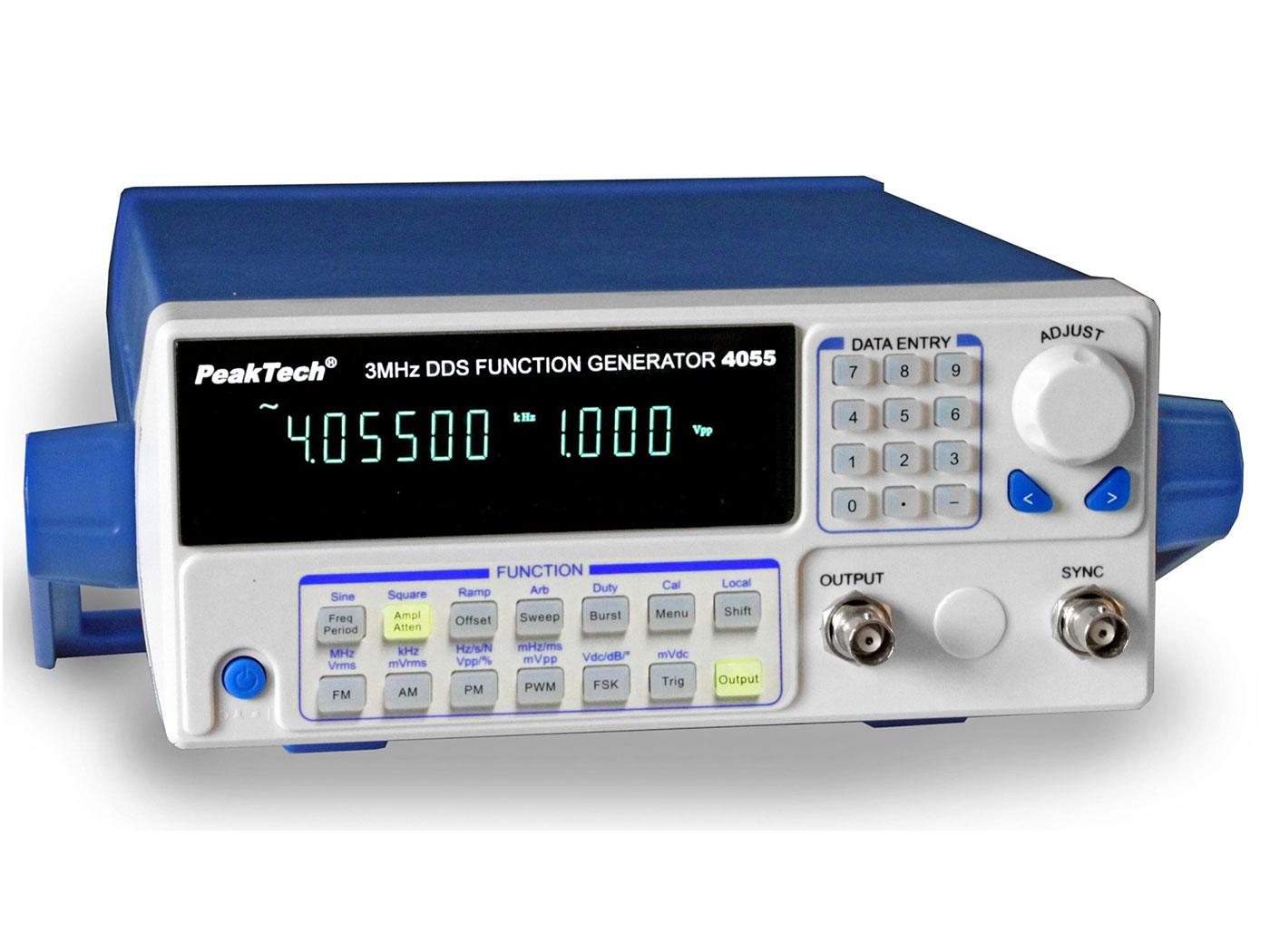 PeakTech® P4055 MV - Generador de Funciones DDS 10 µHz - 3 MHz