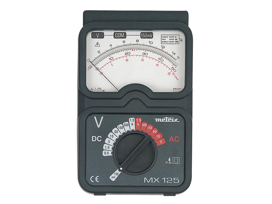Voltímetro analógico ensino - METRIX MX125