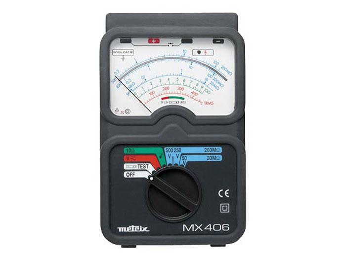 MEDIDOR DE AISLAMIENTO ANALOGICO METRIX MX406B