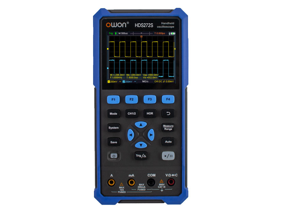 Owon HDS200 Series - Osciloscopio 2 Canales 70Mhz, Multímetro y Generador de Ondas - HDS272