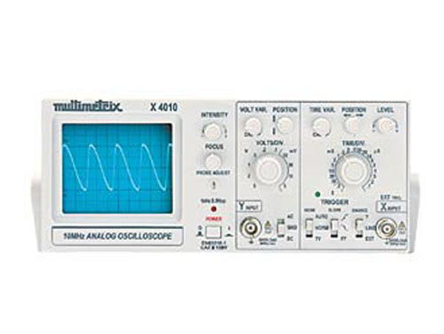 OSCILOSCOPIO 1 CANAL MULTIMETRIX 10 MHz X4010