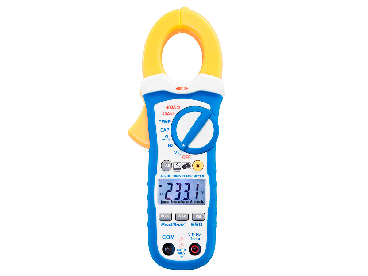 PeakTech P1650 - Digital-Clamp Meter - 400 Aac/Adc - True RMS - 4000 Counts