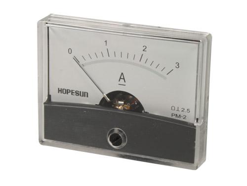 Instrumento Painel Amperímetro Analógico 60 x 47 mm - 3 A cc - AIM603000