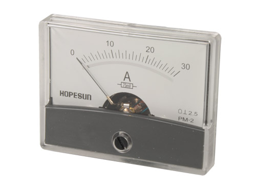 Analogue Current Panel Meter 60 x 47 mm - 30 A dc - AIM6030A