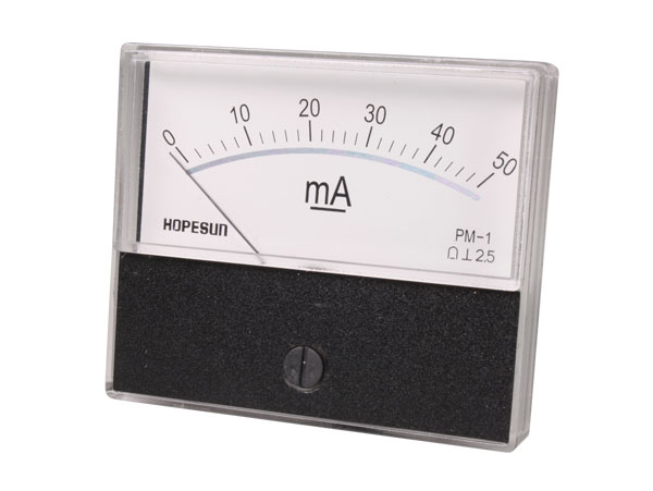 Analogue Current Panel Meter 70 x 60 mm - 50 mA dc - AIM7050