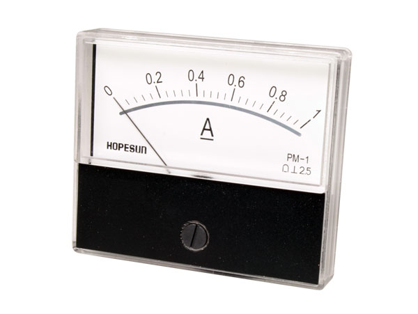 Analogue Current Panel Meter 70 x 60 mm - 1 A dc - AIM701000