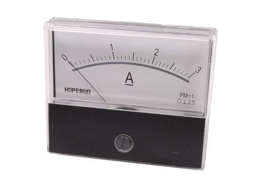 Analogue Current Panel Meter 70 x 60 mm - 3 A dc - AIM703000