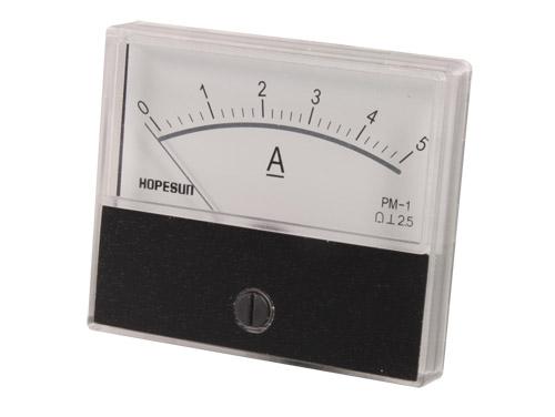 Instrumento Painel Amperímetro Analógico 70 x 60 mm - 5 A cc