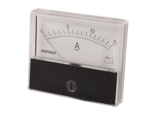Analogue Current Panel Meter 70 x 60 mm - 15 A dc - AIM7015A