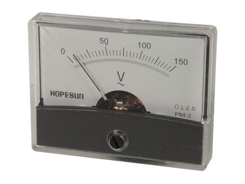Analogue Voltage Panel Meter 60 x 47 mm - 150 V ac - AVM60150