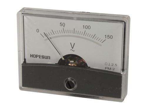 Instrumento Panel Voltímetro Analógico 60 x 47 mm - 150 V ca - AVM60150