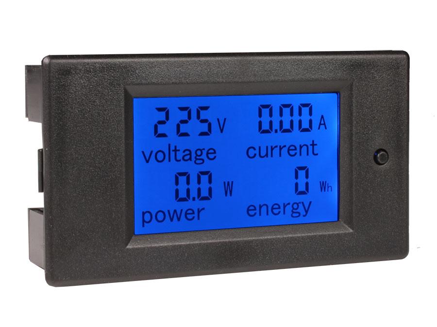 Instrument de Mesure de Panneau à LED, Voltmètre, Ampèremètre, Wattmètre, Energie Consommée