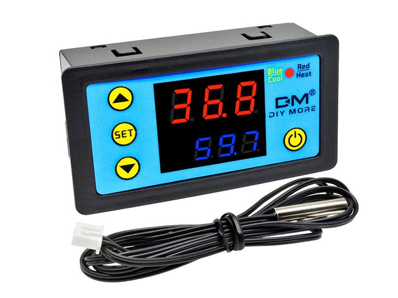 Plage de Thermostats à Panneau Numérique -55 ~ 120 ° C - 12Vdc