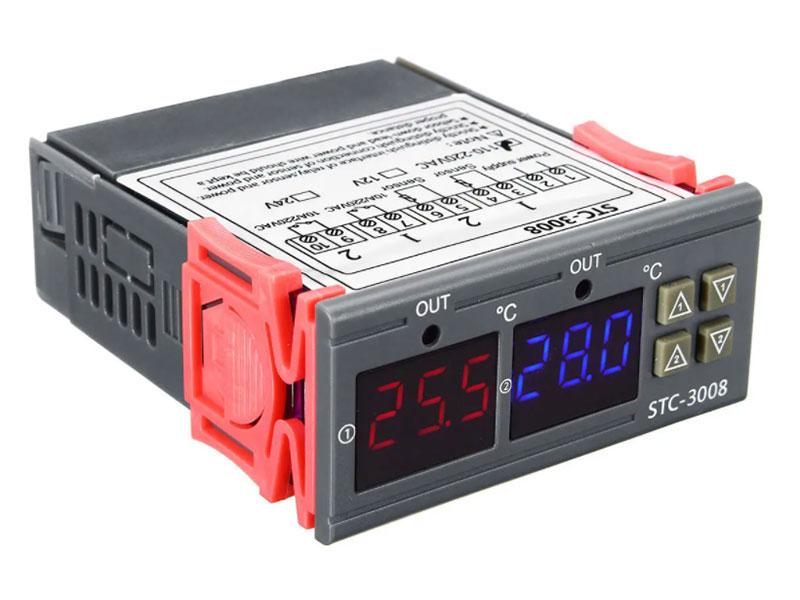 Termostato Digital de Panel Rango -50 ~120ºC - 12Vdc