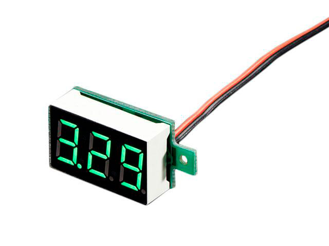 Digital Voltmeter with LED - 3.2..30 Vdc - only 2 Wires