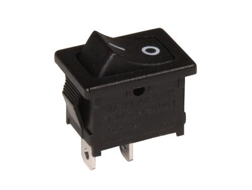 Bouton-Poussoir à Bascule - 2P 1C - Bouton Noir