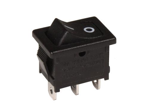 Interruptor Comutador Basculante 2P 1C - Botão Preto