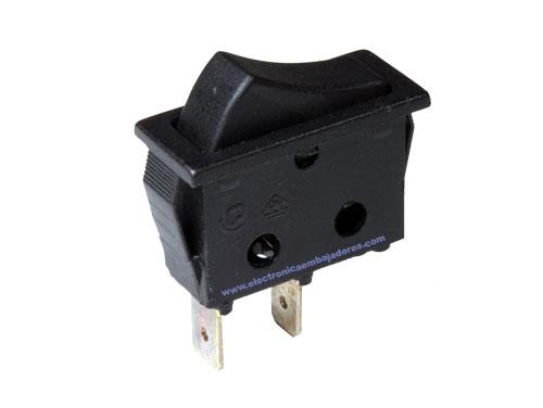 Interruptor Basculante 2P 1C - Tecla Negra - 11.400.I/N