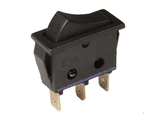 2P 1C - Two-Way Rocker Switch - Black Button - 11.400.C/N