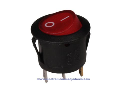 Interrupteur à Bascule 2P 1C - Bouton Lumineux Rouge - 11.478.IL
