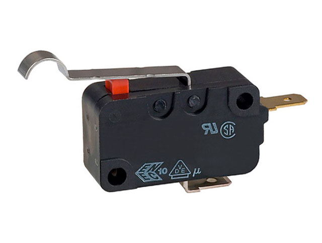 OMRON D3V-164-2A5 -  Medium limit switch with short lever with roller (MICROSWITCH)
