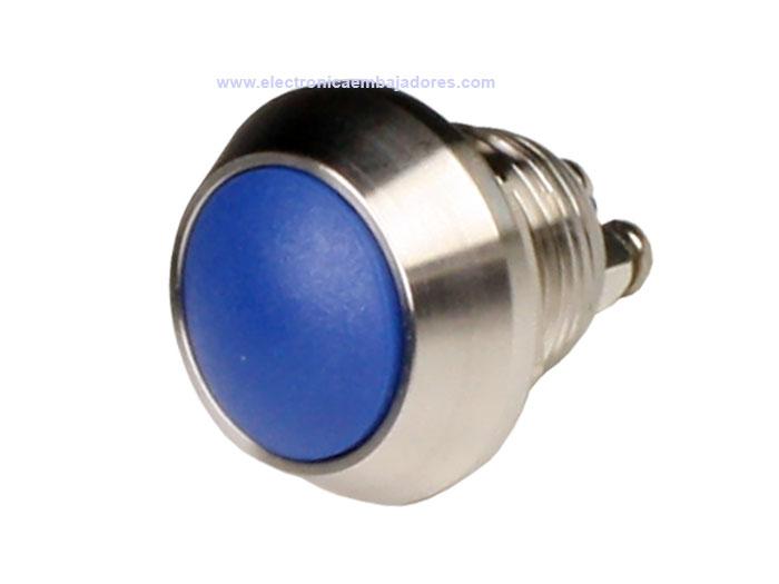 SERIES 37 - 1NO - Panel-mount push button - blue - IP65 - screw connection