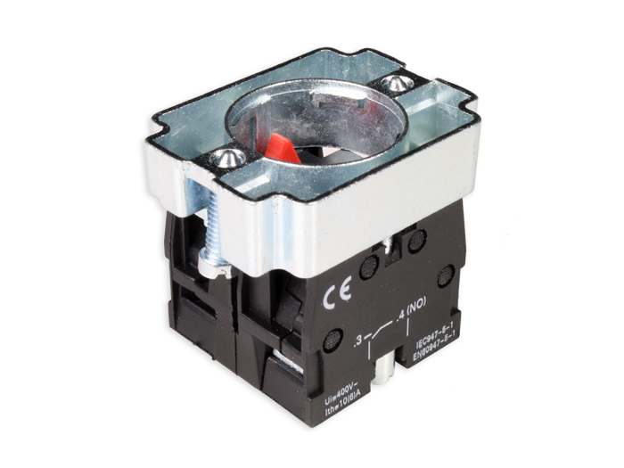SERIES BZ - 1NO + 1NC -Panel-mount push button block