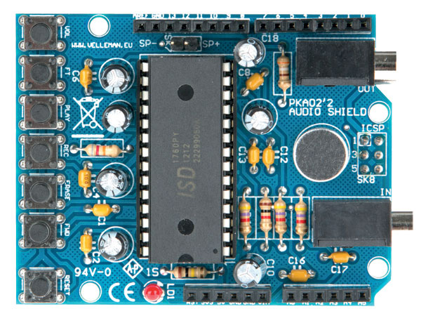 MÓDULO ARDUINO AUDIO SHIELD VELLEMAN