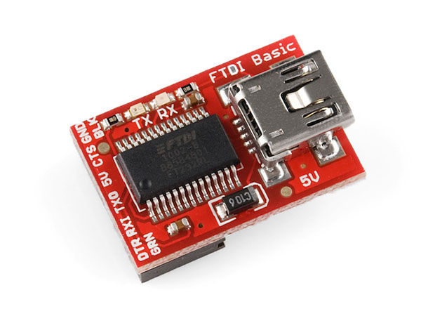 Módulo adaptador USB A série FTDI para ARDUINO - FTDI BASIC SPARKFUN