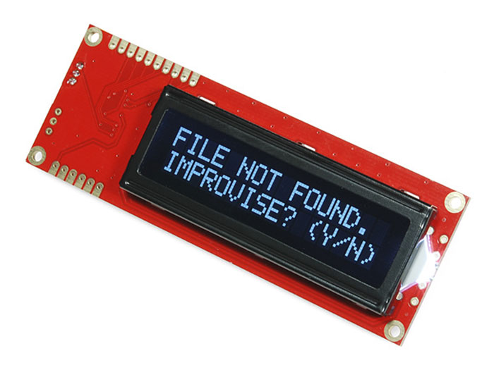 MODULO LCD SERIE RS232 ALFANUMERICO 16X2 - BLANCO SOBRE NEGRO