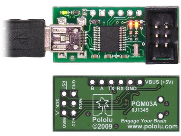 Pololu PGM03A - USB AVR Programmer - 1300