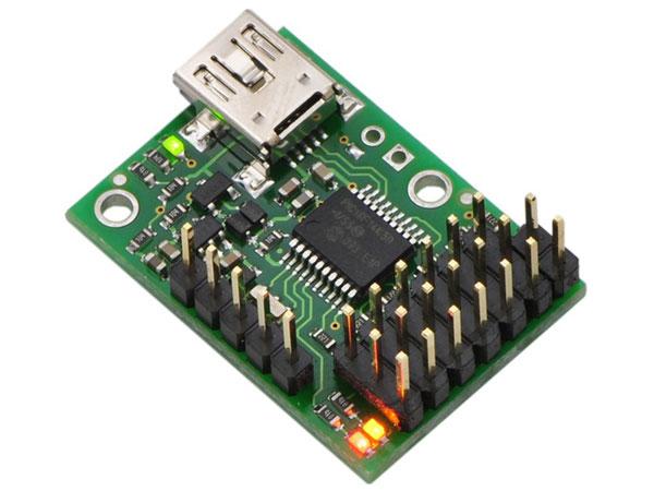 CONTROLADORA SERVOS USB 6 SERVOS MICRO MAESTRO POLOLU - Versión ensamblada