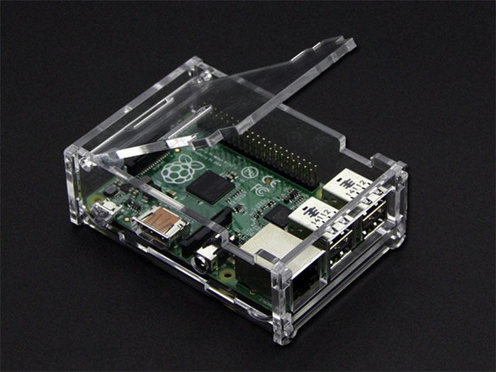 Transparent RASPBERRY PI model B+ and B 1GB case