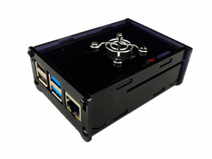 Boîtier pour Raspberry Pi 4 Model B Noir - Avec Ventilateur