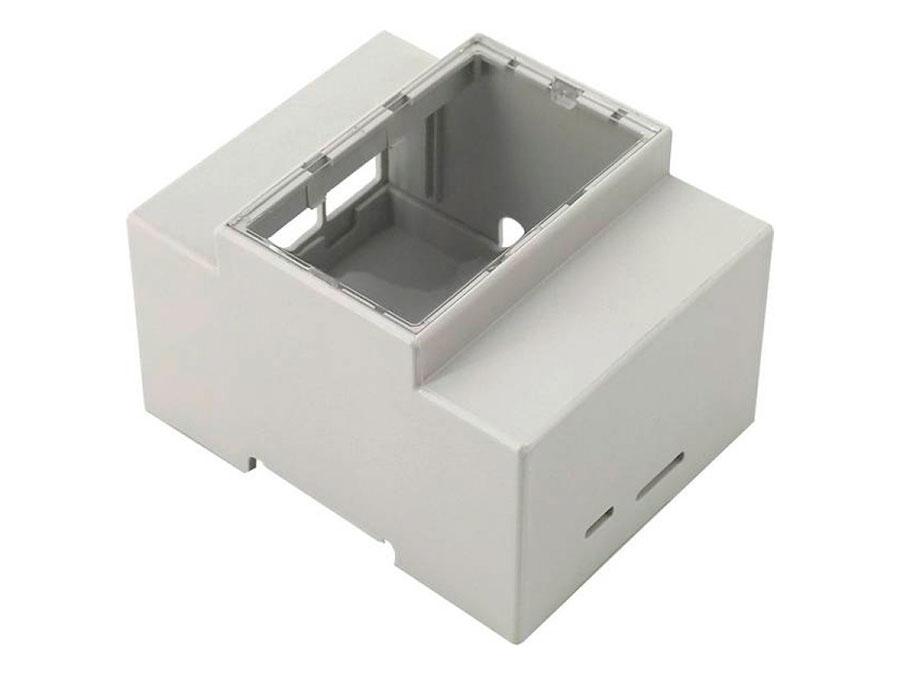 jOY-it - Boîtier en Plastique pour Rail DIN pour Raspberry Pi 4 - RB-CaseP4+07